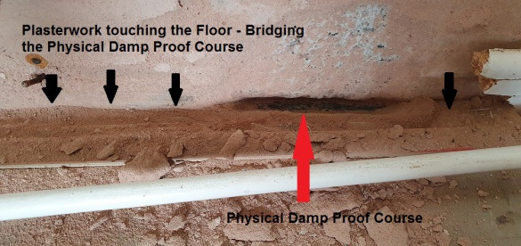 Bridged Physical Damp Proof Course in Matlock, Derbyshire