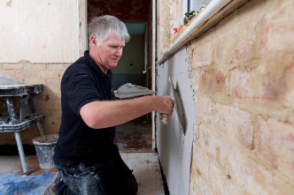 Re-plastering after a Damp Proof Course