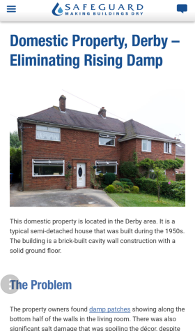 Damp Proofing in Derby - Case Study