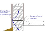 External Render Bridging the Damp Proof Course